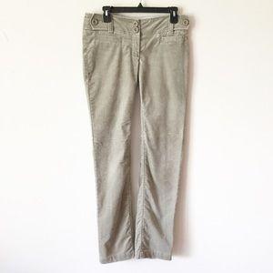 Anthro Cidra Sage Green Corduroy Pants